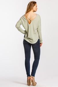 V-Neck Thermal with Criss-Cross Back