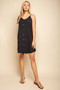 Button-up Woven Dress