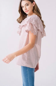 One Shoulder Eyelet Top
