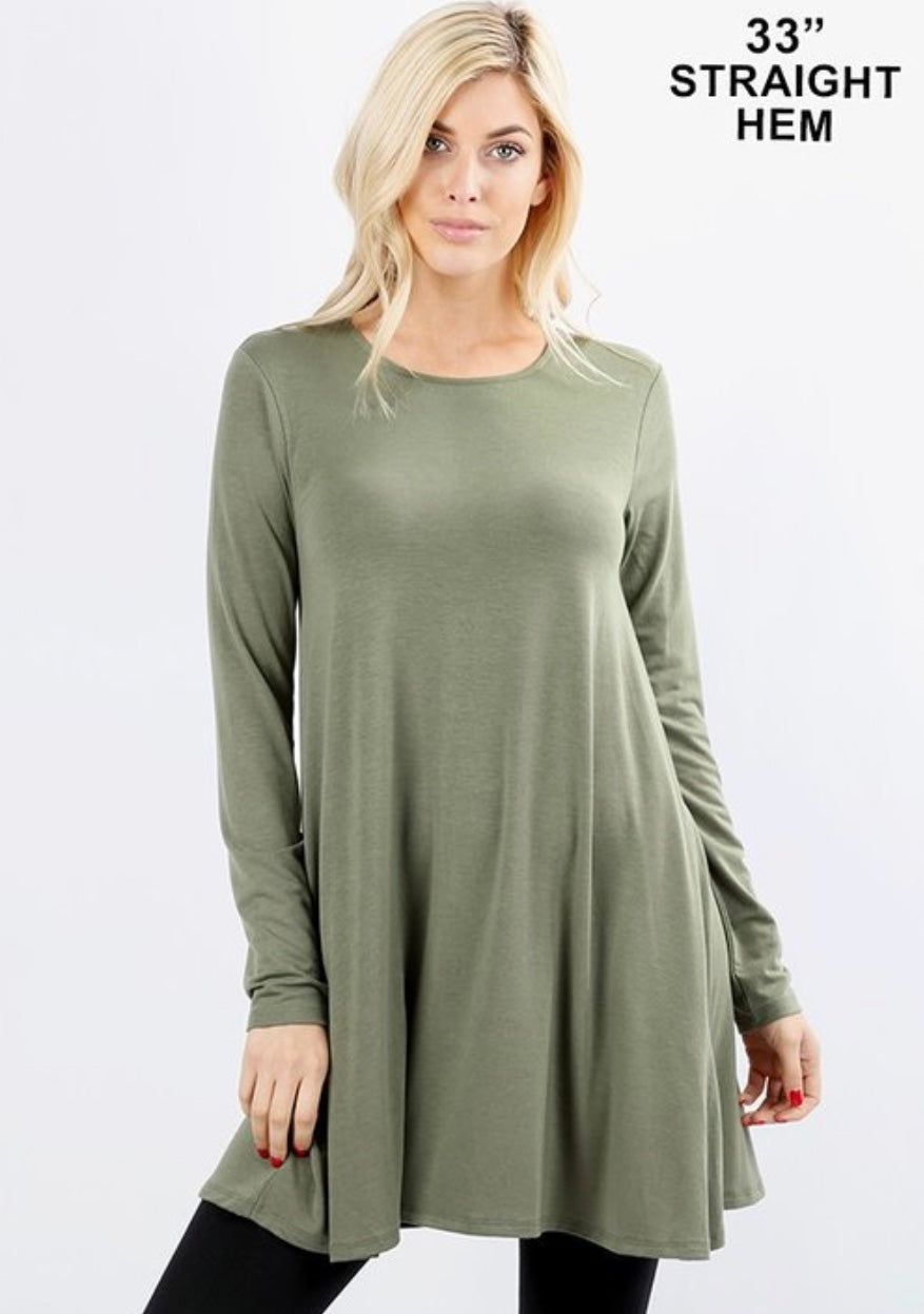Long Sleeve Dress - Olive