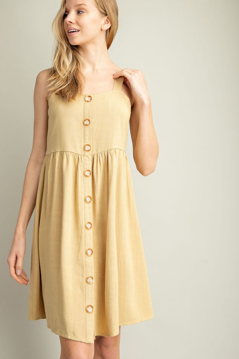 Button Down Babydoll Dress