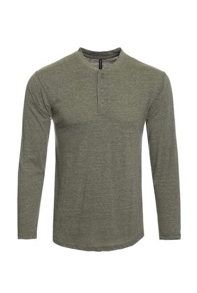 Men's Henley Long Sleeve Shirt