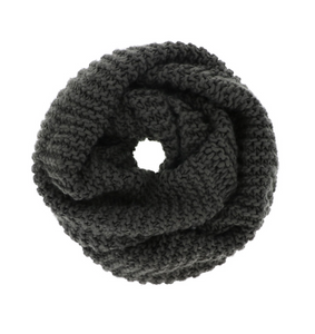 Chunky Knit Infinity Scarf - Charcoal