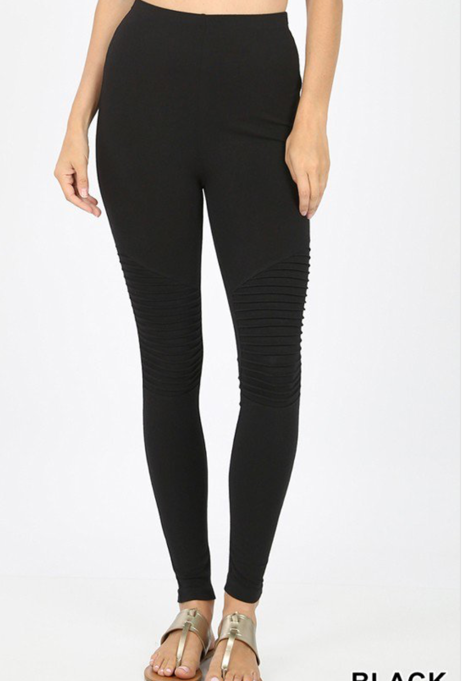 Moto Leggings - Black