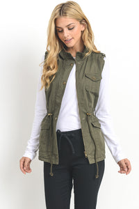 Utility Vest with Fur Lining