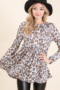 Cheetah Printed Knit Top