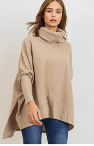Cowl Neck Hi-Low Top