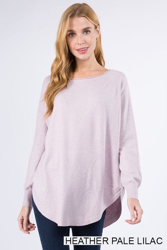 Dreamers Boat Neck Sweater - Lilac