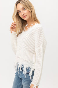 Ripped Fringe Sweater