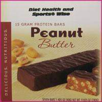 Peanut Butter Bar 15 gm Protein 252  ORDER 24 BOXES OF Deluxe BARS and GET 25% OFF (DHSW) (Price is per case 24 boxes)