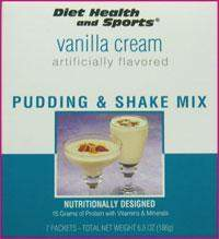 Vanilla Cream PUDDING/SHAKE Mix 851 WHOLESALE CASE 50% Off (40 boxes/case 7 servings/box normally $13.25/box) (DHS)(DHS) Diet Health and Sports Brand - 851 Meal Replacement