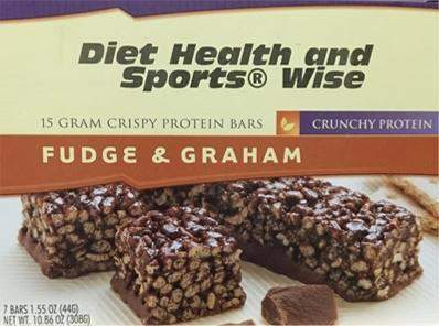 Fudge Graham Crispy Bar with Maltitol and Sucralose 15 gm of Protein - 276 ORDER 24 BOXES OF Crispy BARS and GET 25% OFF (DHSW)