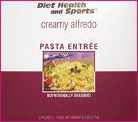 Creamy ALFREDO WHOLESALE CASE 35% Off (24 boxes/case 3 servings/box normally $14.25/box) (DHS) Diet Health and Sports Brand - 740