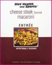 Cheese Steak Macaroni Mix WHOLESALE CASE 35% Off (24 boxes/case 7 servings/box normally $13.25/box) (DHS) Diet Health and Sports Brand - 755