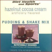 Hazelnut Cocoa Cream Pudding and Shake Robard with SUCRALOSE over 50% Off - 870- Meal Replacement Advanced Health Systems (DHS) Low Cost Discount