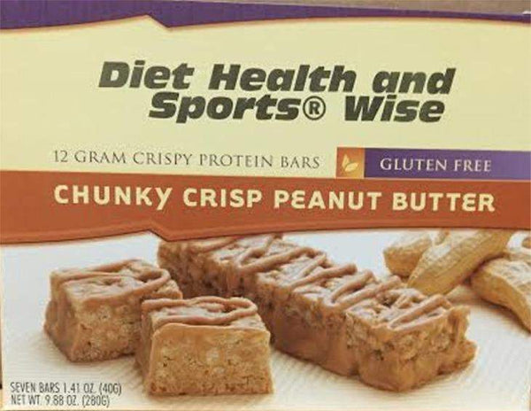 Chunky Crisp Peanut Butter Bar with Maltitol -275 ORDER 24 BOXES OF Crispy BARS and GET 25% OFF (DHSW) (Price is per case 24 boxes)