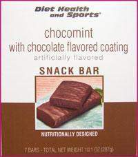 ChocoMint BAR with Chocolate Coating 772 WHOLESALE CASE 35% Off (24 boxes/case 7 servings/box normally $13.25/box) (DHS)