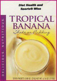 Tropical Banana Pudding/Shake Mix with Sucralose- (DHSW) 104 PURCHASE by MIX and MATCH WHOLESALE For Big Savings