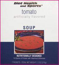 Tomato High Protein Hot Soup Mix WHOLESALE CASE (40 boxes/case 7 pkts/box 280 svg/case)  (DHS) Diet Health and Sports Brand - 856c