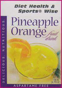 Pineapple Orange Drink Mix with SUCRALOSE - (DHSW) 158 PURCHASE by MIX and MATCH WHOLESALE For Big Savings