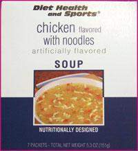Chicken with NOODLES High Protein Hot Soup Mix WHOLESALE CASE 50% Off (40 boxes/case 7 servings/box normally $13.25/box) (DHS) Diet Health and Sports Brand - 843