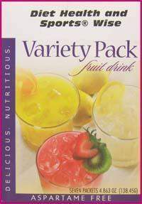 Variety Pack Fruit Drinks with Sucralose - (DHSW) 160 PURCHASE by MIX and MATCH WHOLESALE For Big Savings