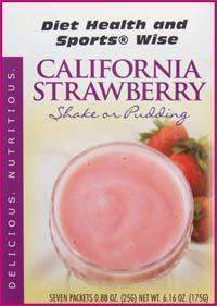 California Strawberry Pudding/Shake Mix with Sucralose- (DHSW) 103 PURCHASE by MIX and MATCH WHOLESALE For Big Savings