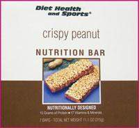 Crispy Peanut Bar - 821  WHOLESALE CASE 16% Off (18 boxes/case 7 servings/box normally $14.25/box) (DSH)