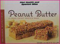 "Peanut Butter ""Crispy"" Protein Bar with Sucralose- 267 ORDER 24 BOXES OF Crispy BARS and GET 25% OFF (DHSW)"