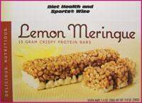 "Lemon Meringue ""Crispy"" Protein Bar with Sucralose- 268 ORDER 24 BOXES OF Crispy BARS and GET 25% OFF (DHSW) (Price is per case 24 boxes)"