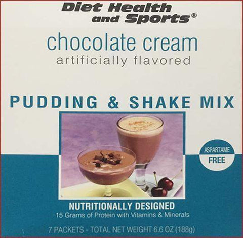 Chocolate Cream Pudding/Shake Mix 860 with SUCRALOSE Meal Replacement 860 WHOLESALE CASE over 50% Off (40 boxes/case 7 servings/box normally $14.25/box) (DHS)