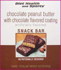 Chocolate Peanut Butter Bar with Chocolate Coating 771 WHOLESALE CASE 35% Off (24 boxes/case 7 servings/box normally $13.25/box) (DHS)