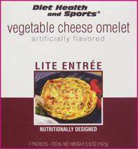 Vegetable Cheese Omelet 754 WHOLESALE CASE 25% Off (24 boxes/case 7 servings/box normally $13.25/box) (DHS) Diet Health and Sports Brand