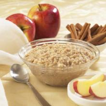 Apples n' Cinnamon High Protein Hot Oatmeal Mix with Sucralose- 187 Less than $10/box (DHSW) by Healthwise