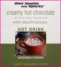 Creamy Hot Chocolate – with Marshmallows Drink Mix $6.63/box ASPARTAME FREE WHOLESALE CASE 50% off (40 boxes/case 7 pkts/box) (DHS) Diet Health and Sports Brand-706 Made by Robard Advanced Health Systems