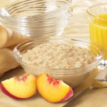 Peaches and Cream Oatmeal High Protein Mix with Sucralose- 196 Less than $10/box (DHSW) Made by Healthwise