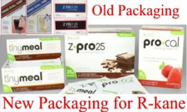 Rkane New Packaging and Old Packaging for ZPRO and PROCAL