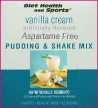 Vanilla Cream PUDDING/SHAKE $7.12/box Robard with Sucralose 876 50% Off (40 boxes/case 7 servings/box normally $14.25/box) Made by Robard Advanced Health Systems (DHS) Low Cost Discount