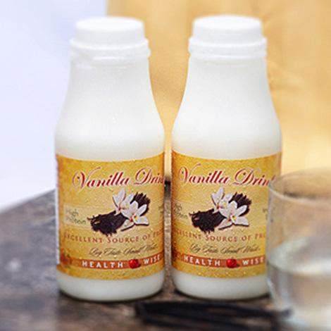 Vanilla DRINK Shake Mix with Sucralose- 218 (DHSW) Diet Health and Sports WISE Brand - (Price is per 96 bottles per case) Made by Healthwise-DietFoodsWholesale.com