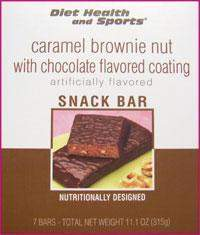 Caramel Brownie NUT Bar 801 WHOLESALE CASE 35% Off (24 boxes/case 7 servings/box normally $13.25/box) (DHS)