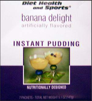 Banana Delight Instant Pudding WHOLESALE CASE 50% Off (40 boxes/case 7 servings/box normally $13.25/box) (DHS) Diet Health and Sports Brand - 835