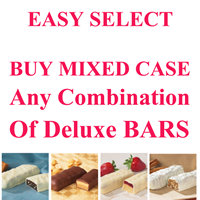 DELUXE Bars $10.62/bx Healthwise Low Cost Wholesale Discount EASY SELECT 24 Boxes any DELUXE Bars