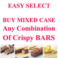 EASY SELECT  Just $10.62/box. Pick 24 Boxes of any CRISPY Bars Get Case Price $255 Made by (DHSW) Healthwise
