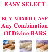 EASY SELECT  Just $11.63/box. Pick 24 Boxes of any Divine Vegetarian Protein Bars Get Case Price $279 Made by (DHSW) Healthwise