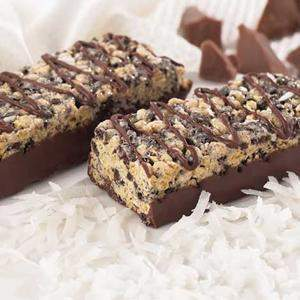 Chocolate Coconut Crispy Bar - No Aspartame -  273 ORDER 24 BOXES OF Crispy BARS and GET 25% OFF (DHSW) (Price is per case 24 boxes)