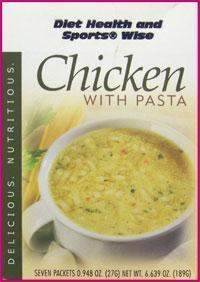 Chicken with Pasta High Protein Hot Soup Mix with Sucralose- (DHSW) 174 PURCHASE by MIX and MATCH WHOLESALE For Big Savings