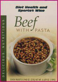 Beef with Pasta High Protein Hot Soup Mix with Sucralose- (DHSW) 173 PURCHASE by MIX and MATCH WHOLESALE For Big Savings