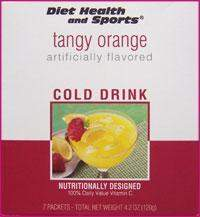 Tangy Orange DRINK Mix (DHS) Diet Health and Sports Brand 711Price per case (40 boxes/case 7 servings/box normally $14.25/box) (DHS)