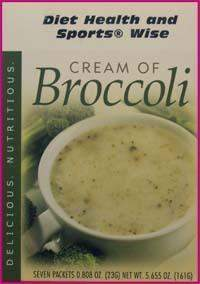 Cream of Broccoli High Protein Hot Soup Mix - (DHSW) 171 PURCHASE by MIX and MATCH WHOLESALE For Big Savings
