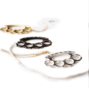KNUCKLE DUSTER NECKLACE